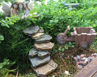 Rock Staircase, Rock Steps, Fairy Garden, Miniature Gardening Accessory, Yard Decor