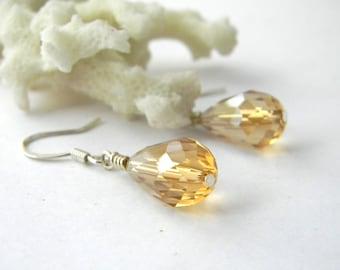 Champagne Glass Drop Earrings Dangle Earrings