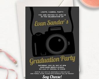 College Graduation Einladung Vorlage / Graduation Party Einladungen / Graduation Ankündigung / Graduation Party Einladungen zum ausdrucken