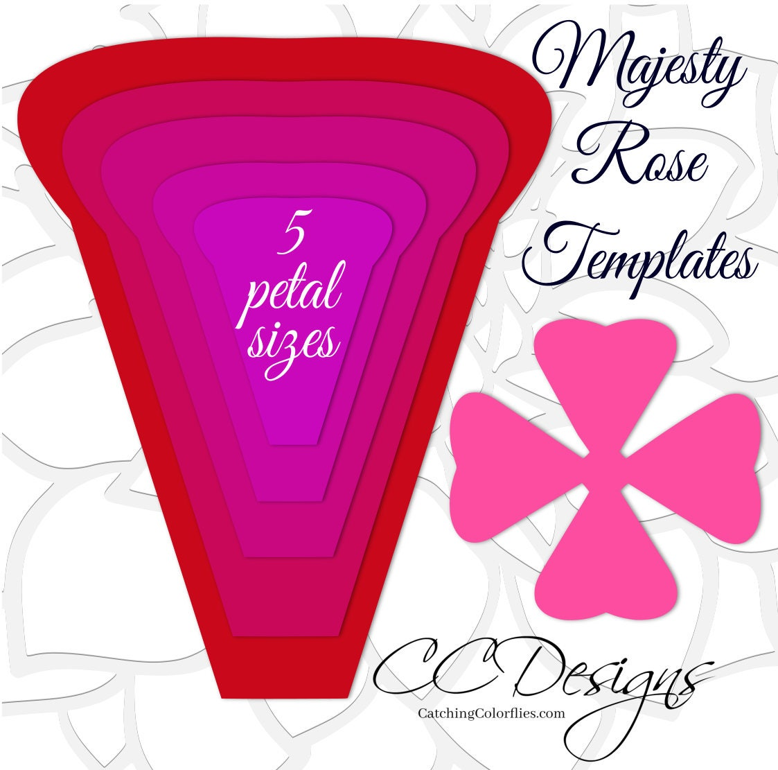 It's just a picture of Inventive Paper Rose Template Printable