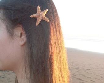 Small Starfish Barrette Little Mermaid Hair Clip Sea Star Ariel Nautical Costume Beachy Beach Wedding Accessories Womens Gift For Her Summer