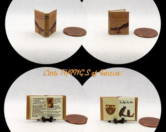 YOU And YOUR OWL Magical Textbook Miniature Dollhouse 1:12 Scale Illustrated Readable Magic Popular Boy Wizard Potter Witch Fortune Teller