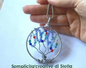 Trees of life pendants and chain-Swarovsky