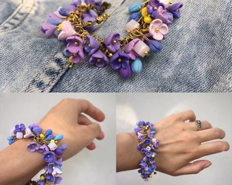 Lilac handmade  bracelet