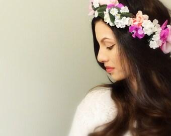 Beautiful Women's Floral Crown, Hair Accessory, Flower Crown, Flower Headband