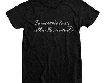 READY TO SHIP Nevertheless She Persisted Shirt | Little Feminist Shirt | Never the Less She Persisted Shirt | Kids Anti Trump Shirt | Youth