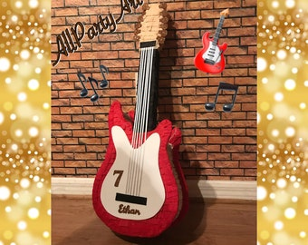 Electric Guitar Pinata. Party Decorations and Supplies
