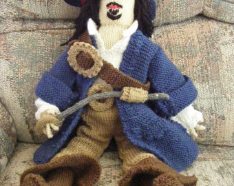 Knitted Capt Jack Sparrow Doll