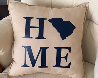South Carolina Pillow - Home State Pillow - State Pride Throw Pillow - Decorative Pillow - Home Pillow - Square Pillow - 16x16