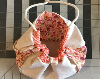 Large floral Kinchaku bag