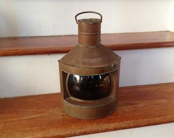 Antique Brass Ship's Lantern -