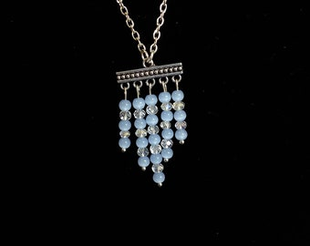 Chandelier earrings and necklace