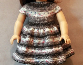 Pretty Handknitted Dress for American Girl Doll also fits Vintage Sasha Course Doll