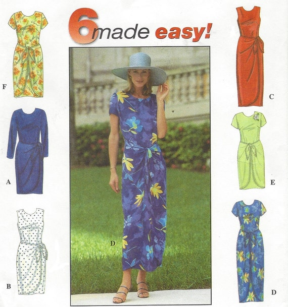 sarong wrap dress instructions