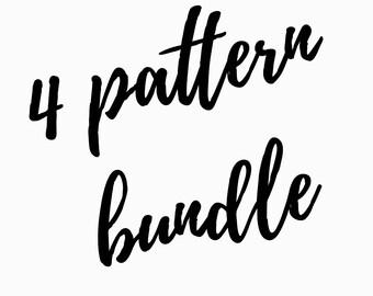 Cross Stitch pattern bundle, pick any 4 patterns, pattern deal, pattern discount, counted cross stitch, modern cross stitch patterns, pick 4