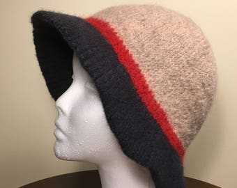 Hand-Knit Felted Wool Cloche Hats