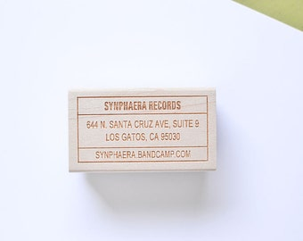 Custom Address Stamp - Customized Stamp - Personalized Stamp - Wood Handle