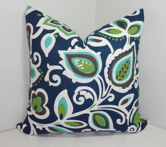 Outdoor Pillow Cover Navy Green Christmas Gift Shop