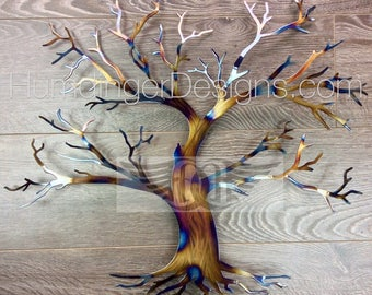 11th Anniversary (Steel) Maple Tree of Life Wall Art