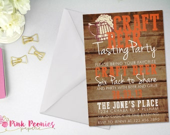 Beer Tasting Party Invitation, Adult Party Invitation, Craft Beer, Thirsty Thirty, Oktoberfest, Birthday Party, Custom DIY or Printed Card