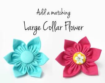 Large Cotton Flower for Dog Collar - Detachable flower to match your collar - Flower to match dog collar set - Kanzashi dog collar flower