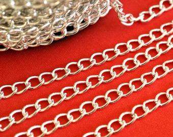 5 Feet Silver Tone Twist Chains CH-1.0DK-S