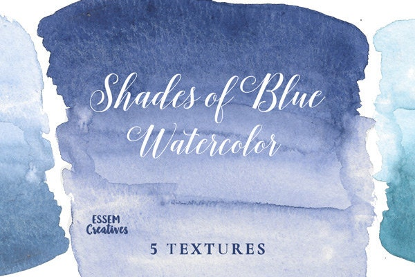 Navy Blue Ombre Clipart Watercolor Splash For Logo DIY