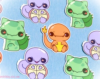 Pokebeebs Starters Kawaii Vinyl Sticker