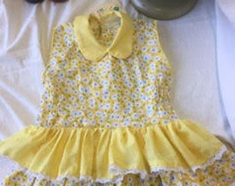 Child's Daily Yellow Cotton Sun Dress