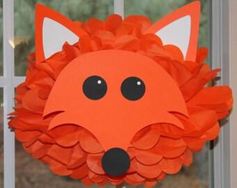 Fox tissue paper pompom kit