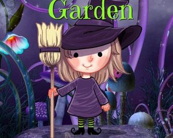 PENELOPE'S GARDEN Adult or Children's Coloring Book