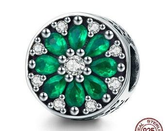 Luminous Green Crystal Charm