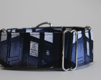 "Greyhound Tardis 2"" Martingale Collar"