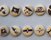 Sewing Buttons - 10 x Sew...