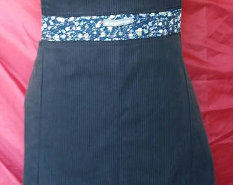 Apron made of recycled pants