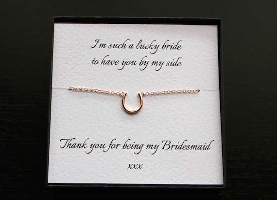 Horseshoe Bridesmaid Bracelet