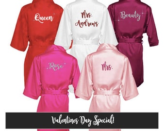Valentines Day Gift for her - Valentines Day Robe - Valentines Gift - Valentines Robe - Red Robe - Valentines Day Robes-Valentines Day Gifts