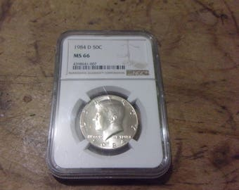 NGC MS66 1984-D Kennedy Half Dollar