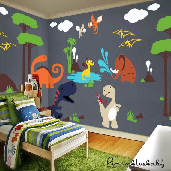 Dinosaur Wall Decals Playroom Wall Decals Kids U0026 Nursery