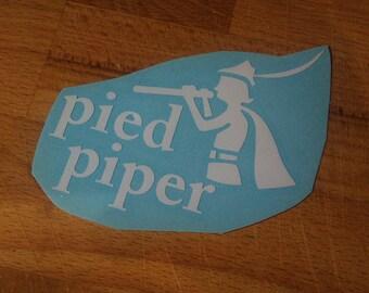 White Silicon Valley Pied Piper vinyl laptop decal/transfer sticker