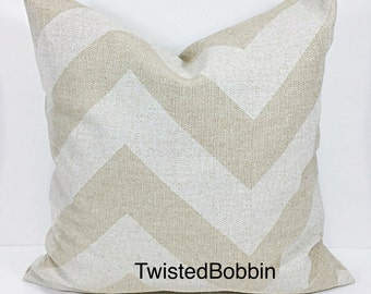 BEIGE PILLOW COVER.Oatmeal. pillow cover.Zippy. Chevron.Oatmeal and beige.pillow cover.cushion cover.Pillow case.Select your size.cm
