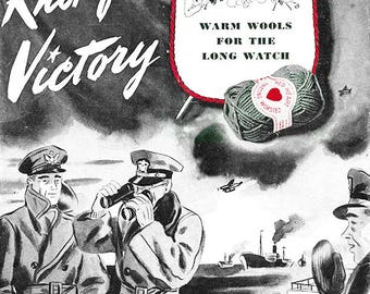 Knit For Victory - Wartime Knitting Patterns - WW2 Knitwear - Knitted Sweaters, Socks, Scarves, Hats, Gloves - Retro Fashion