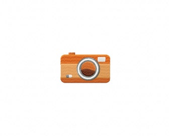 Mini stitched camera embroidery design, camera embroidery design, vacation camera design, picture embroidery design