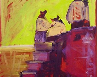 Hopi Sunset, Original Oil Painting, Southwest Art, New Mexico Painting, Fine Art, Wall Art, New Mexico Decor, Painting on Canvas