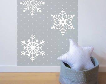 Giant Christmas snowflakes