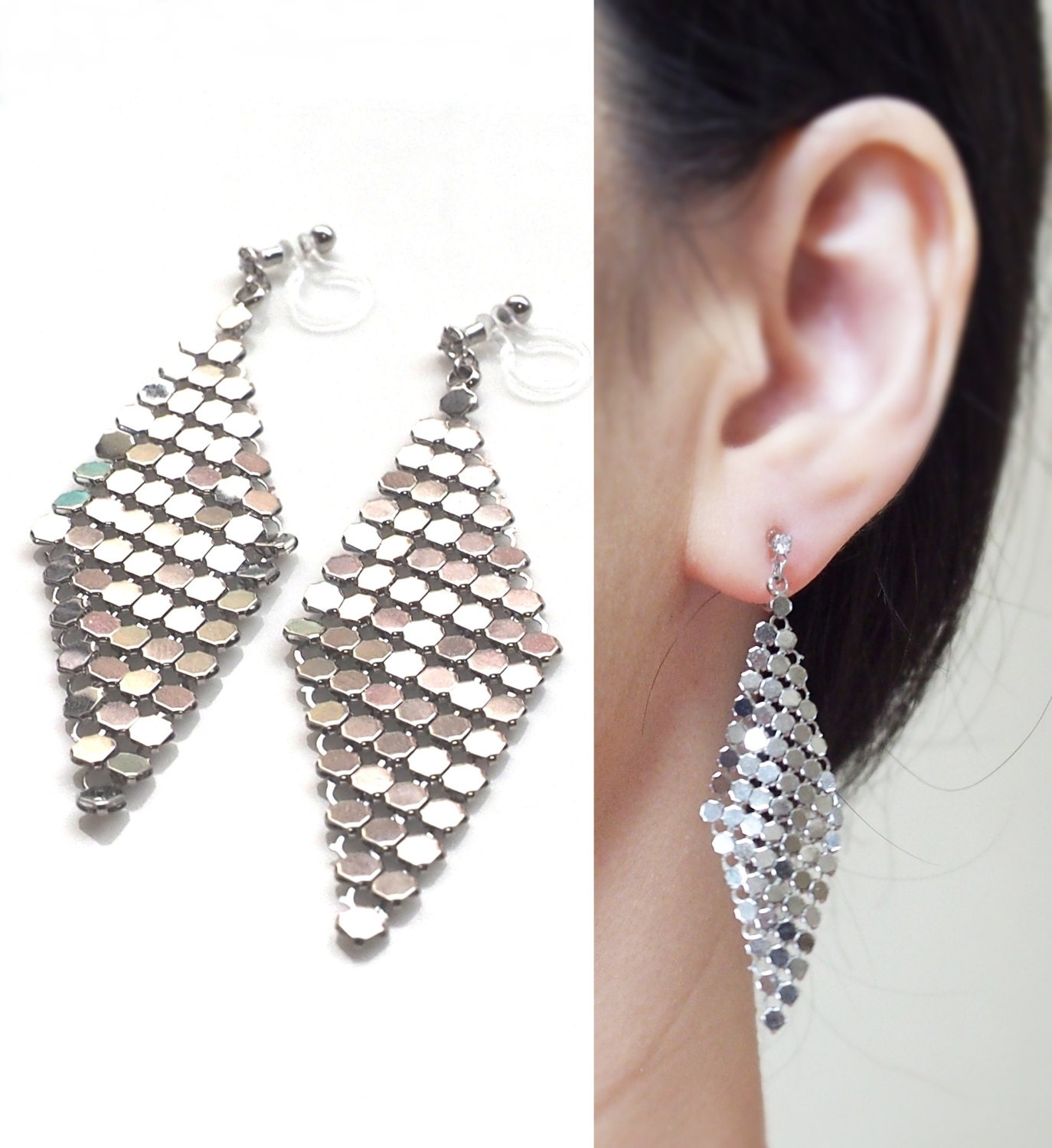 falling plaza earring products leaf on earrings clip