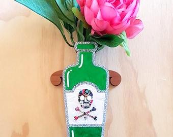 Green Marble Poison Bottle Vase