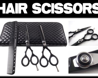 "Hair Scissors Set MZ Brand New 5.5"" Inch With Case And Cutting Comb FM60"