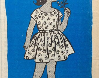 Mail order 4597 girls dress size 8 vintage 1960's sewing pattern