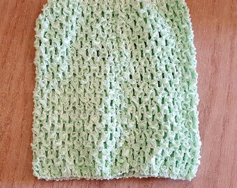 STRAPLESS stretch Mint green crochet for baby 0-16 month tutu dress